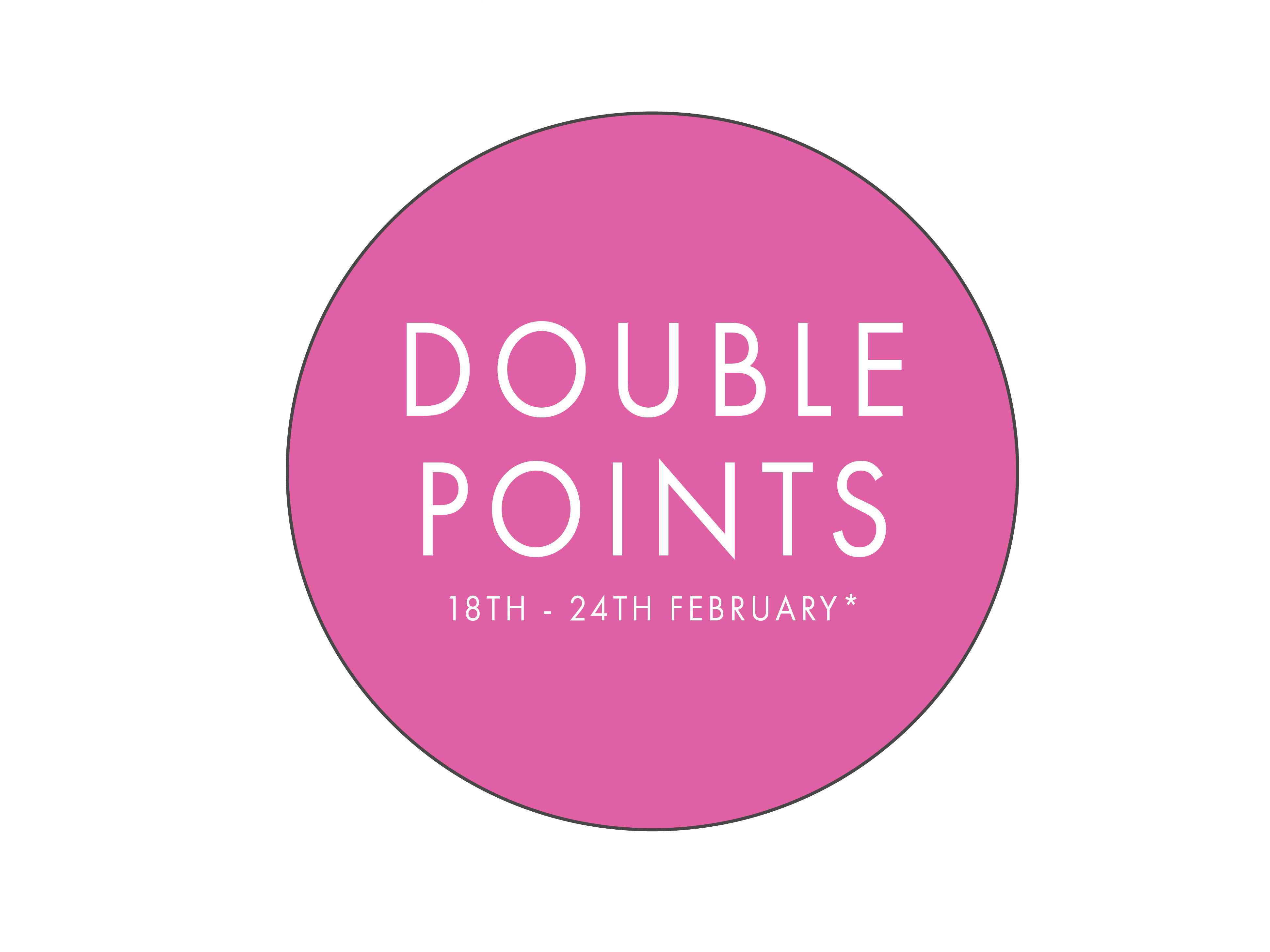 Enjoy double points with any jewellery purchase from our jewellery department during the event dates.